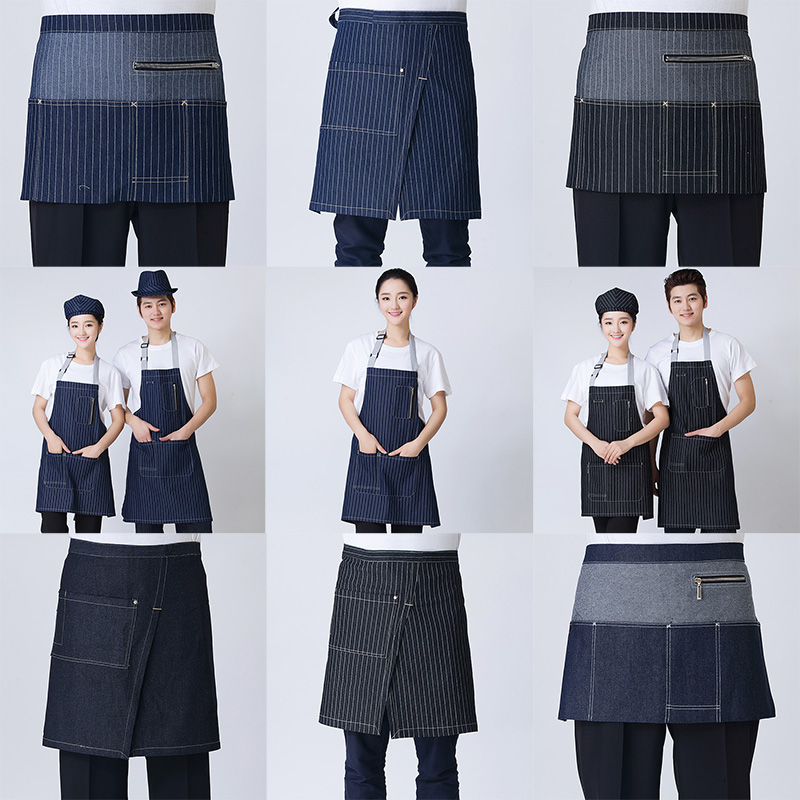 Summer work uniforms hotel waiter chef kitchen pantry helper diabla shop work apron bust halter apron