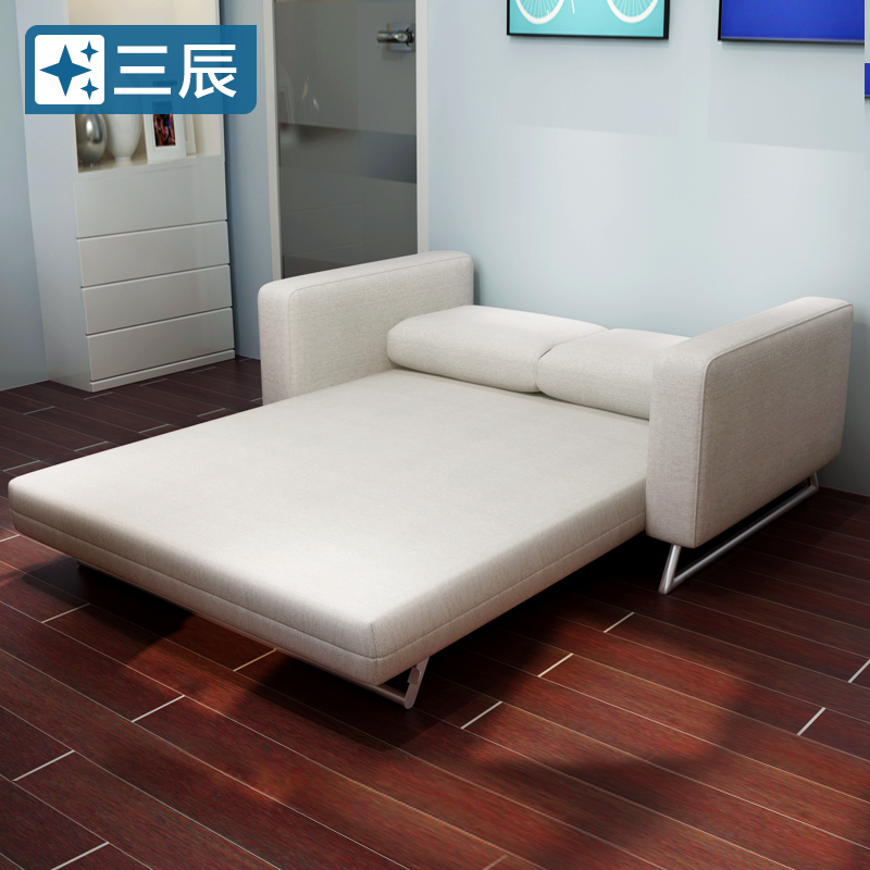 Sunchime lazy folding versatile fabric sofa bed dual 1.8 1.5 m 1.2 double living room furniture