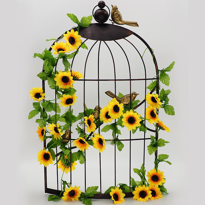 Sunflower artificial flowers artificial flowers rattan ceiling air conditioning heating pipe decorative artificial flower vine rattan plastic flower