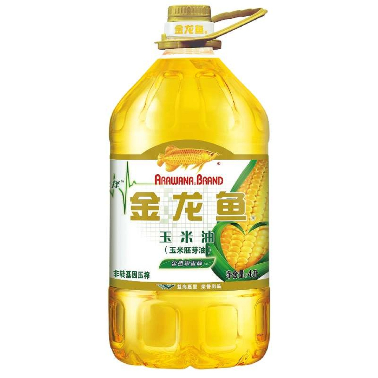 [Suning tesco supermarket] arowana edible oil corn germ oil 4l non genetically modified