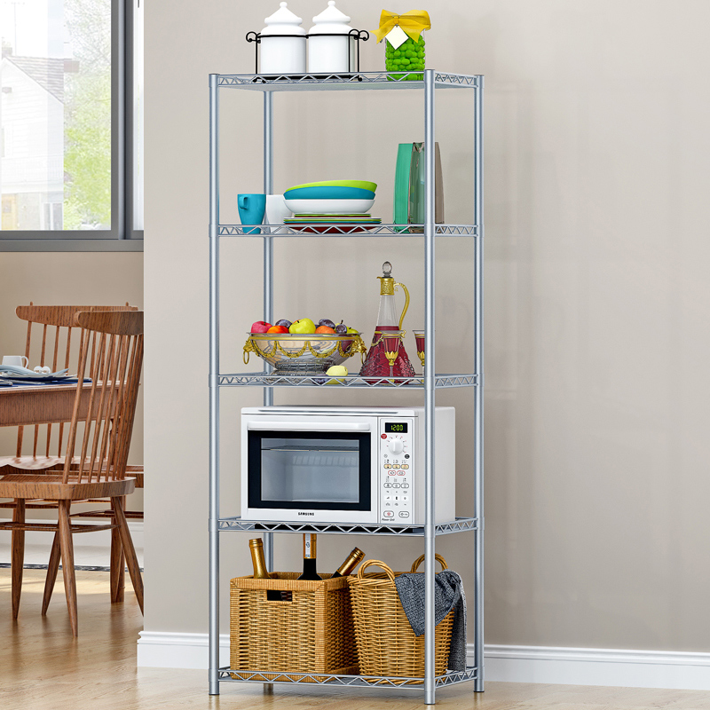 Suo ernuo rustproof iron kitchen shelving rack shelf debris storage rack finishing frame storage rack shelf floor