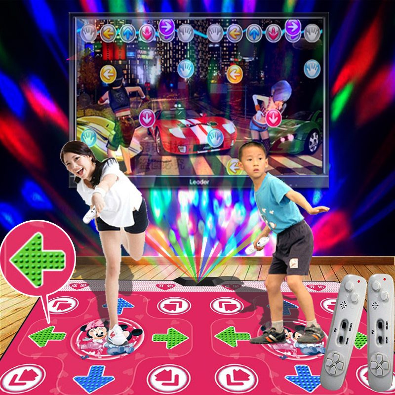Super dance pa double dance dance revolution dance mat tv pc dual interface led light massage hand dance dance dance revolution + home