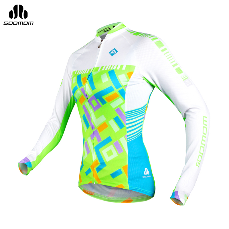 Super league lance sobike wicking jersey long sleeve 2015 spring and summer female mountain bike bicycle clothing rainbow