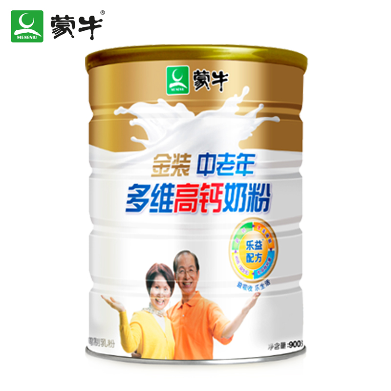 [Supermarket] lynx mengniu elderly multidimensional high calcium milk powder milk powder gold paragraph 900g/listen (cans) Dress