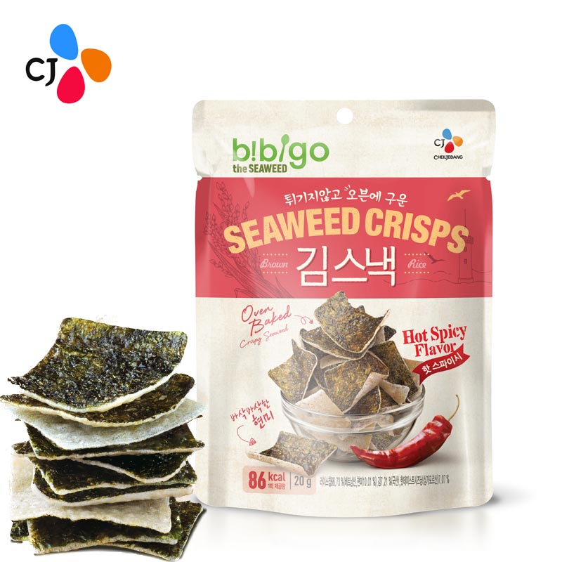 [Supermarket] lynx required club for south korean imports of cj bibigo seaweed rice crackers crisp (spicy) 20g