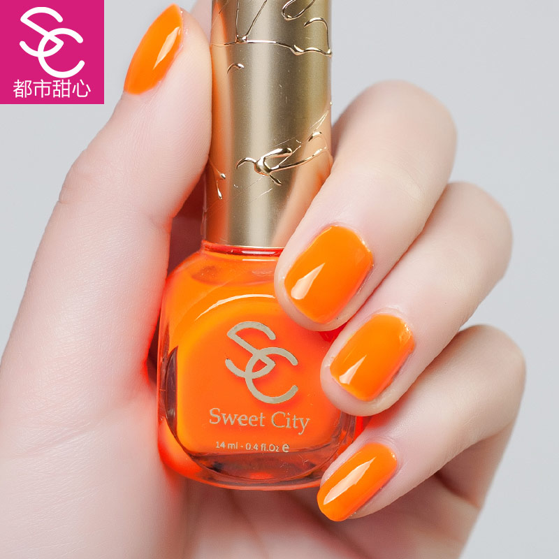 Sweet city/urban green nail polish sweetheart lasting health fluorescent candy colored nail supplies 14 ml
