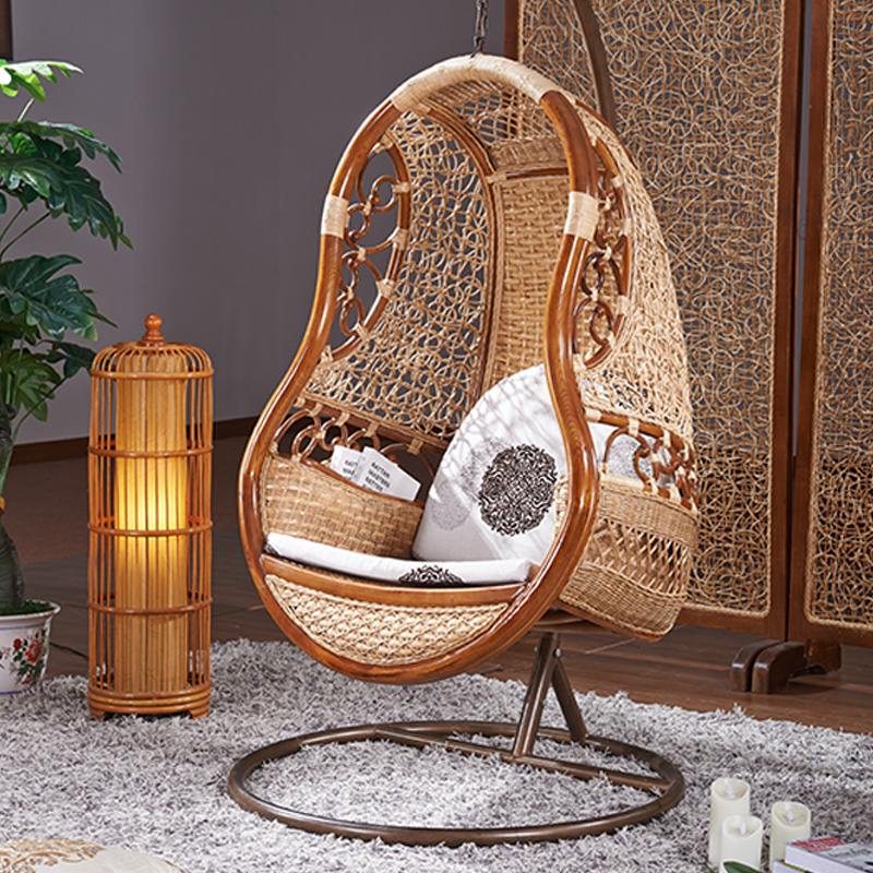 Etonnant Get Quotations · Swing Hanging Chair Leisure Wood Swing Swing Chair Hanging  Chair Indoor Nest Basket Wicker Chair Hanging