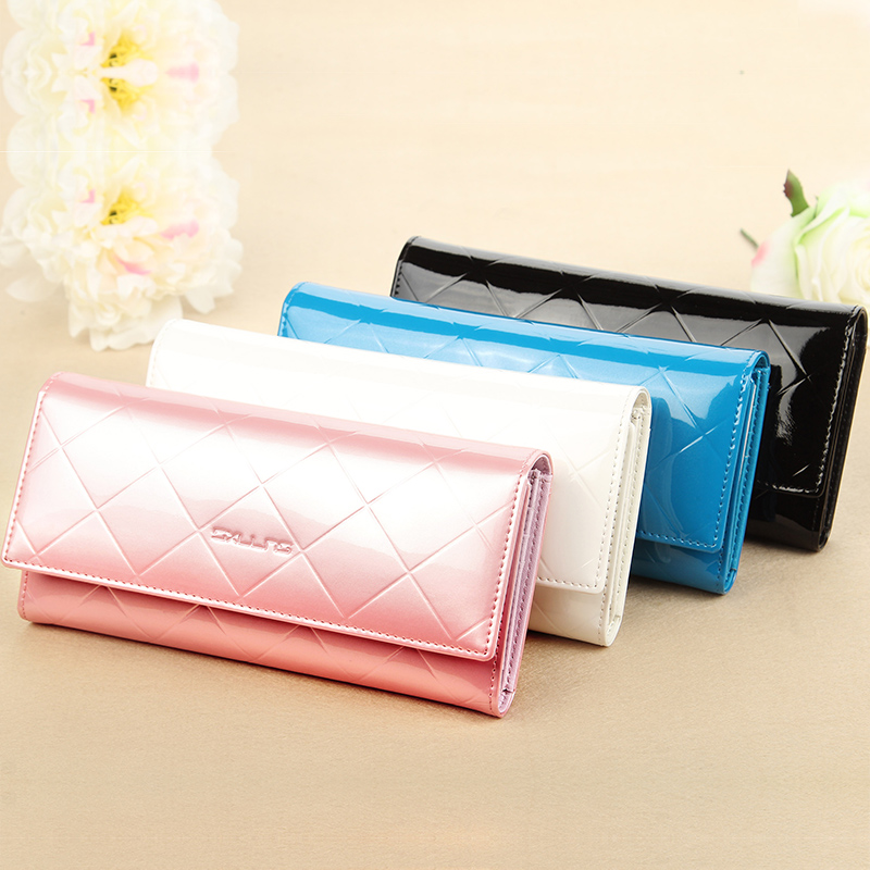 Sxllns wallet ms. wallet genuine leather wallet female long section of european and american fashion clutch bag 20 new wave of 15