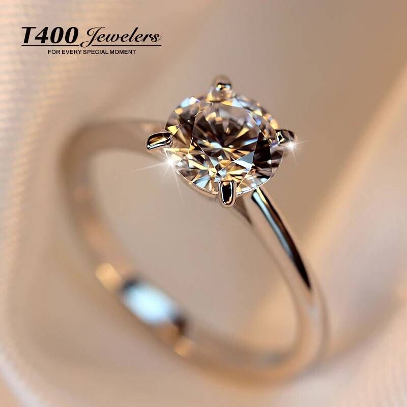 T4002015 male tail ring silver ring couple female ring on the ring simulation diamond ring to marry a birthday valentine's day gift