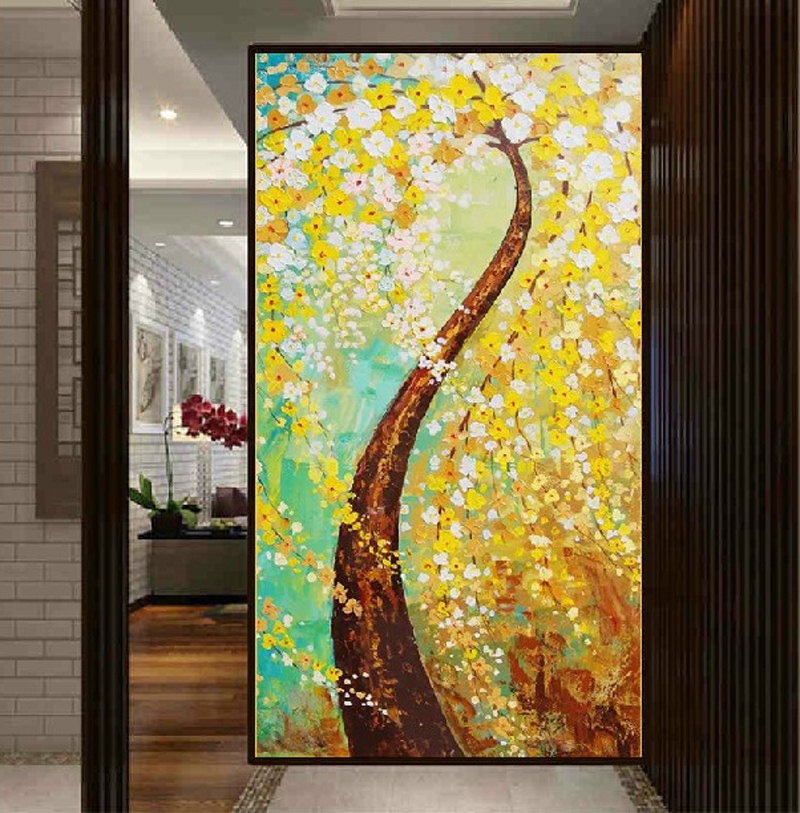 Tada painting 5d diamond paste diamond diamond stitch painting vertical version of european painting pachira mysterious off the living room full of diamond