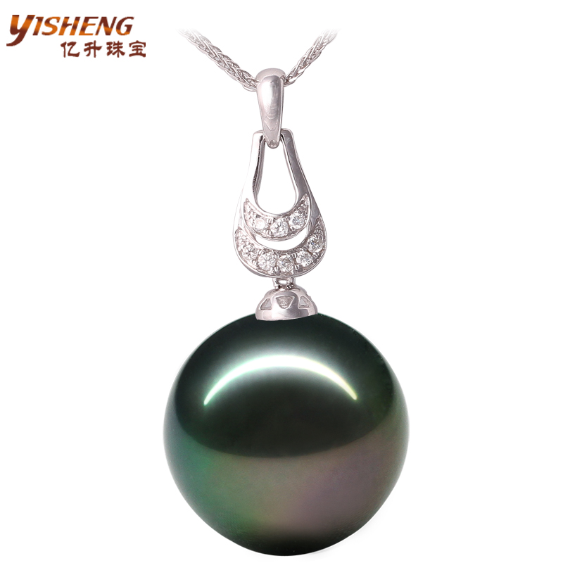 Tahitian black pearl pendant k gold pearl sea pearl pendant necklace pendant genuine