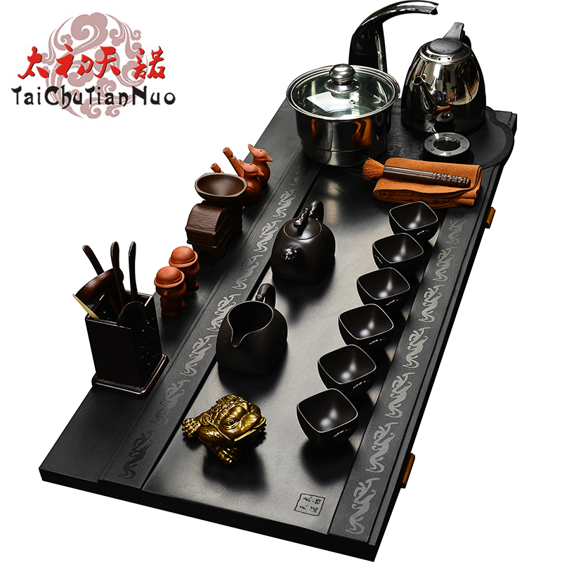 Taichu sentinel inblock black stone black stone tea tray tea sea tea sets factory special collector's WJS-RY