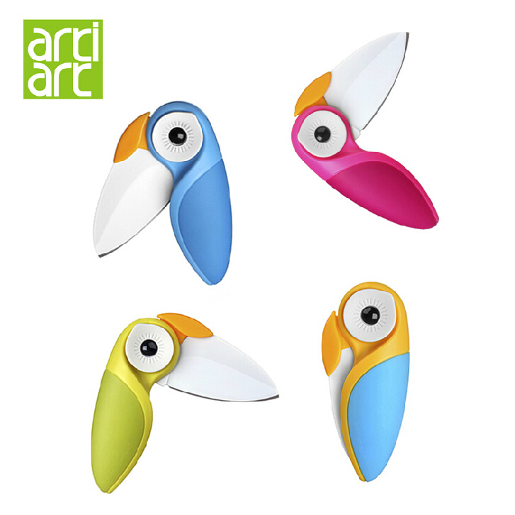 Taiwan artiart creative bird knife ceramic folding knife fruit knife portable peeler small knives
