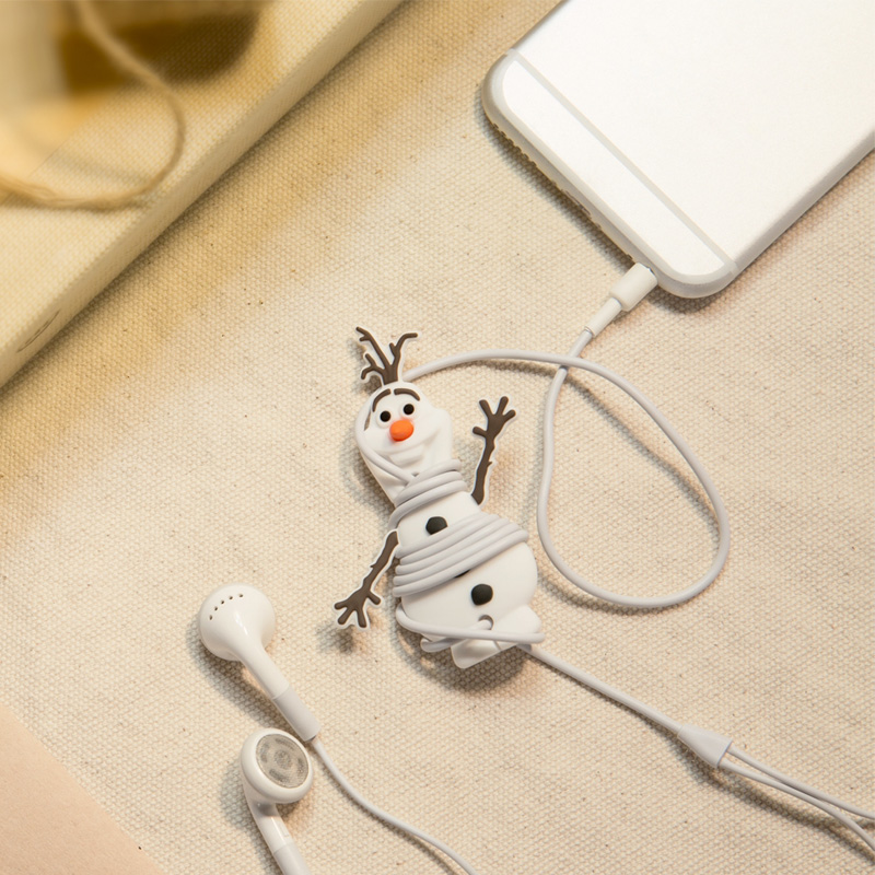 Taiwan bone frozen frozen sorbet olaf cartoon headphone winder silicone reel rod