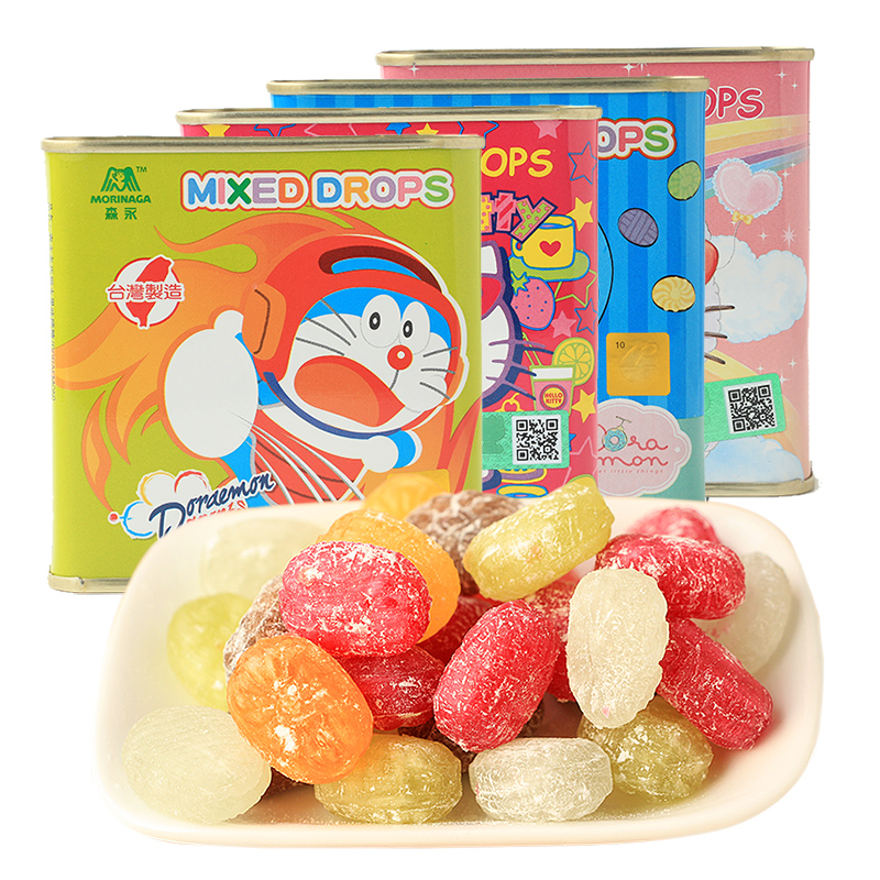 Taiwan imported snacks morinaga more carrefour fruit sugar fruit juice candy candy box 100g