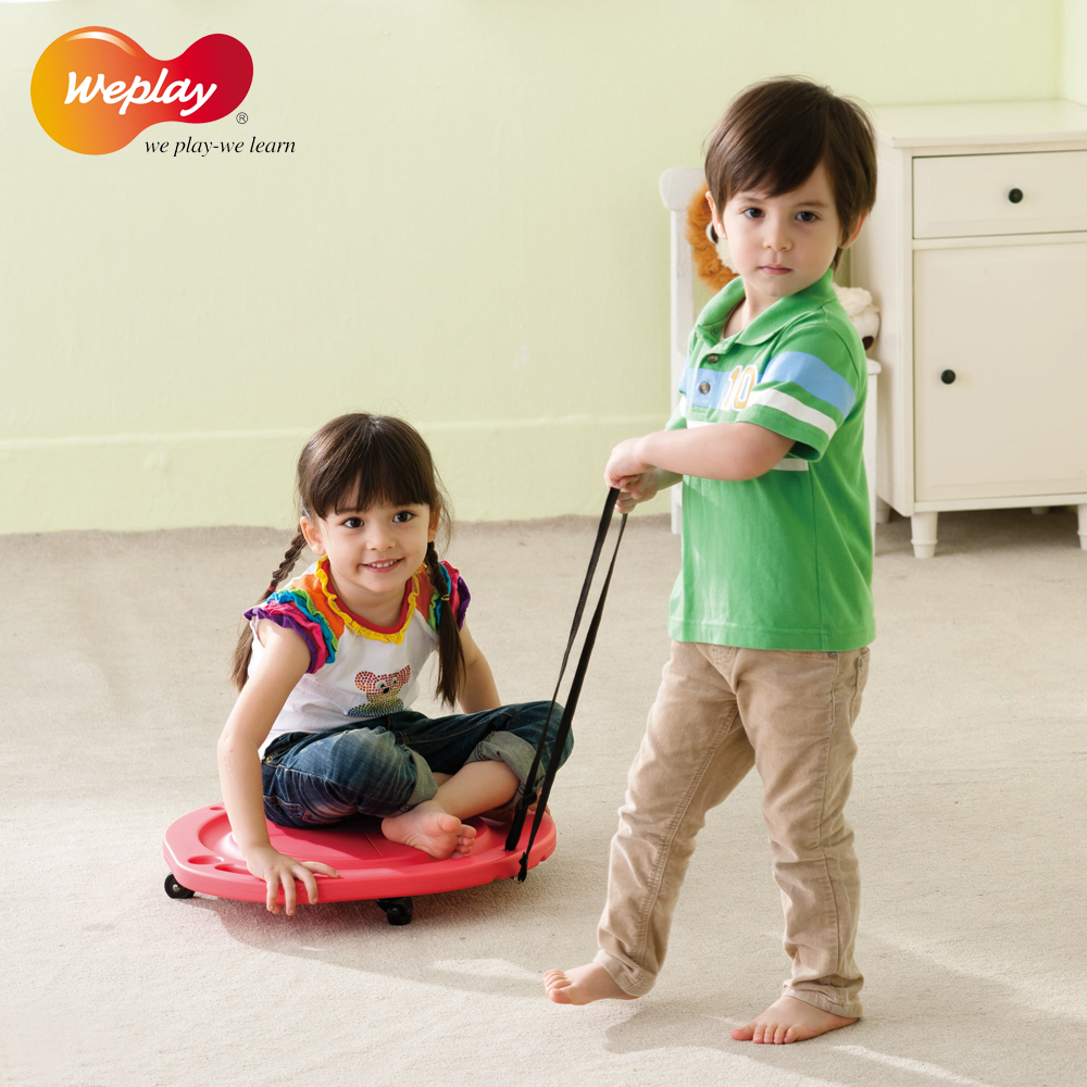 Taiwan imported weplay young children sensory integration equipment balance force training single pull wheeled scooter