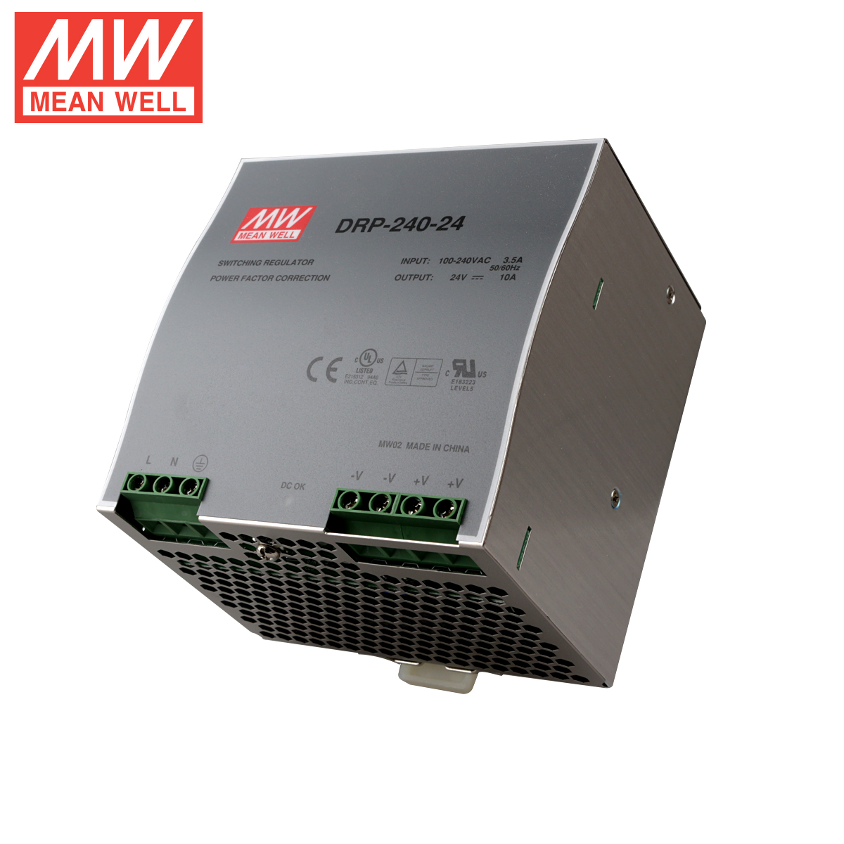Taiwan meanwell switching power supply 24v10a 240W industrial grade track rail power drp-240-24