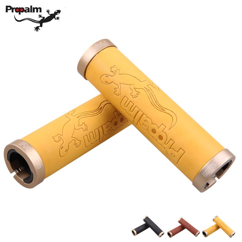 Taiwan propalm gecko lizards to cover round cowhide leather bike grips can be locked 1027EP