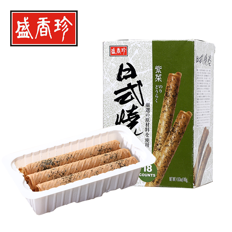 Taiwan sheng xiangzhen specialty snack japanese nori seaweed burned volume 140g imported snacks snack crackers