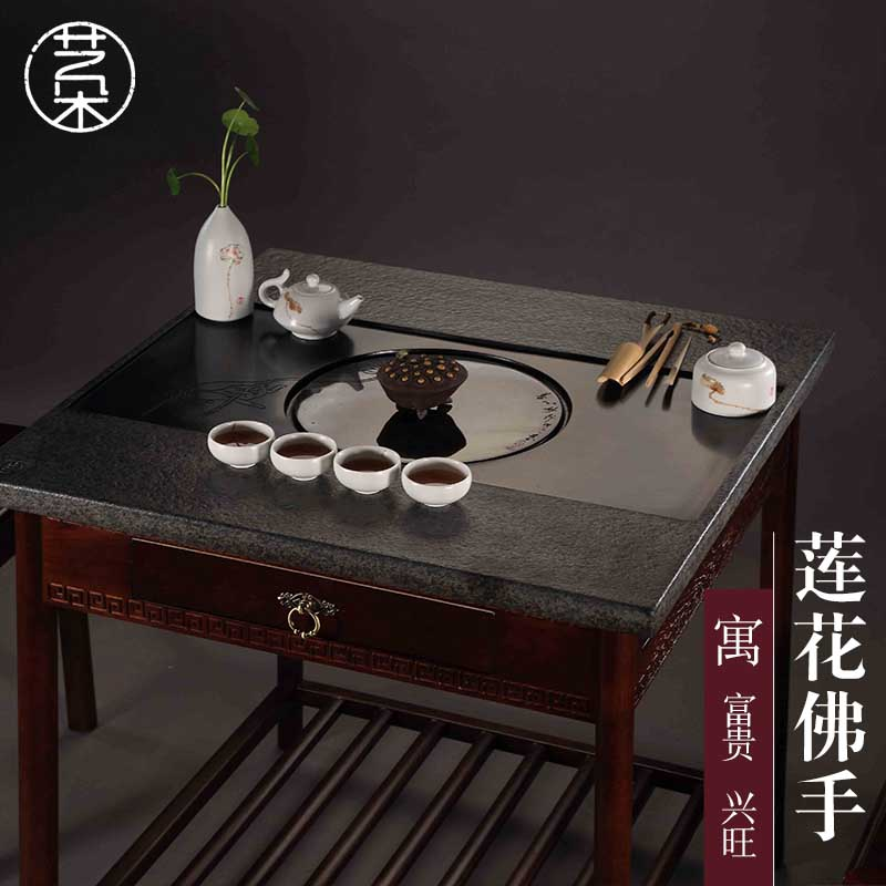 Taiwan yi duo ugyen stone coffee table kung fu tea tables and chairs solid wood classical chinese tea table tea table tea table tea table tea room furniture