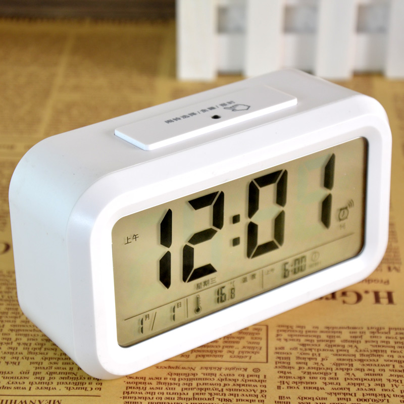 Talking alarm clock bedside alarm clock luminous lazy little alarm clock electronic clock mute clever clock students alarm clock free shipping
