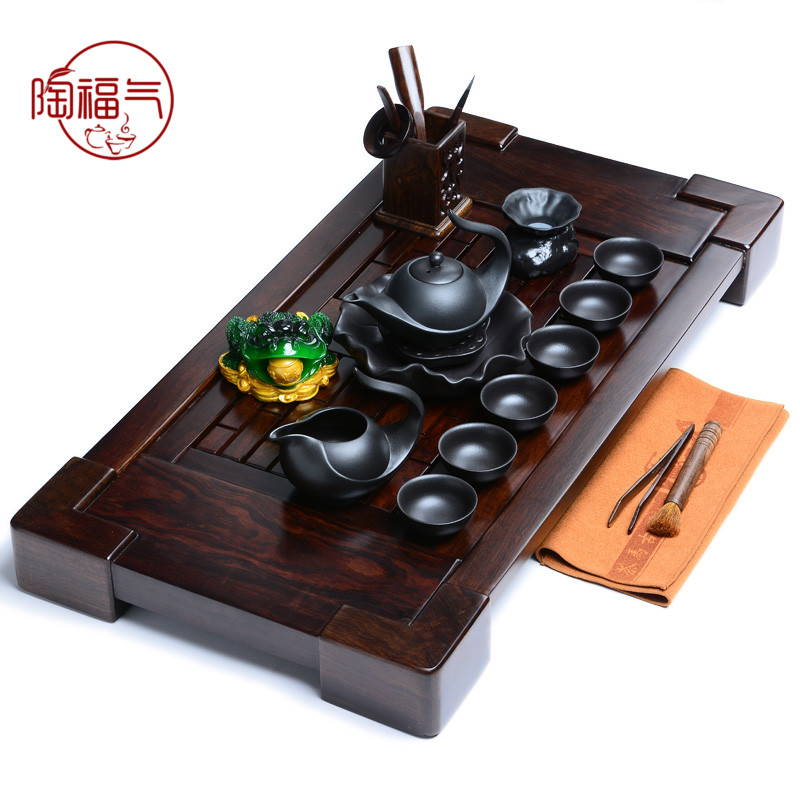 Tao blessing ã ã tea ebony ebony wood tea tray yixing tea sets tea tray tea sea station