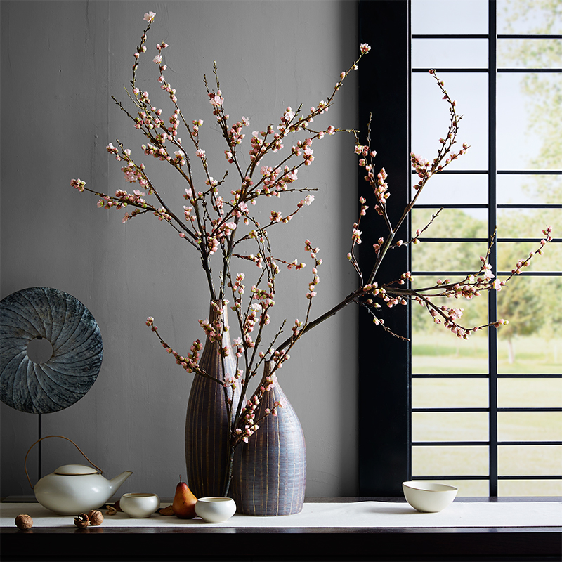 Tao from the united states zen upscale living room decorative artificial flowers artificial flowers artificial flowers cherry cherry coffee table floral flower flowers