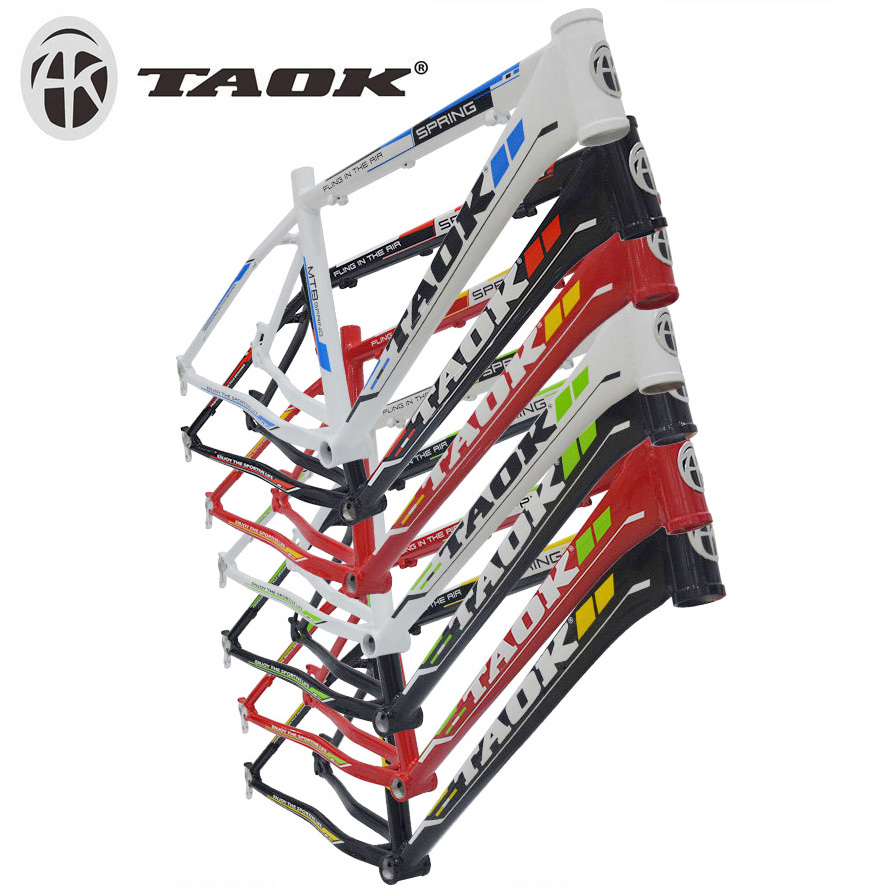 Taok tinto grams inch mountain bike 26 aluminum alloy seamless pipe frame tripod frame disc multicolor free shipping
