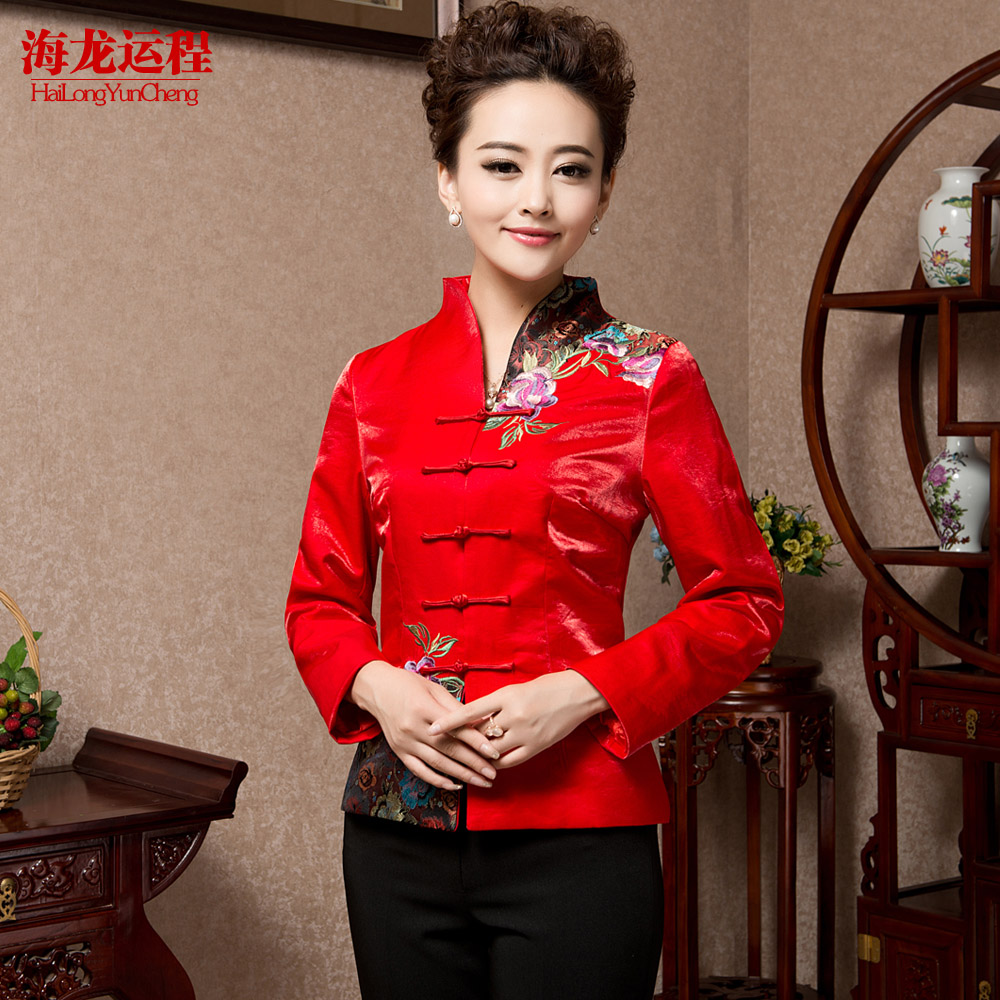 Teahouse overalls fall and winter clothes waitress uniforms sleeved overalls costume tea specialist clothing pants