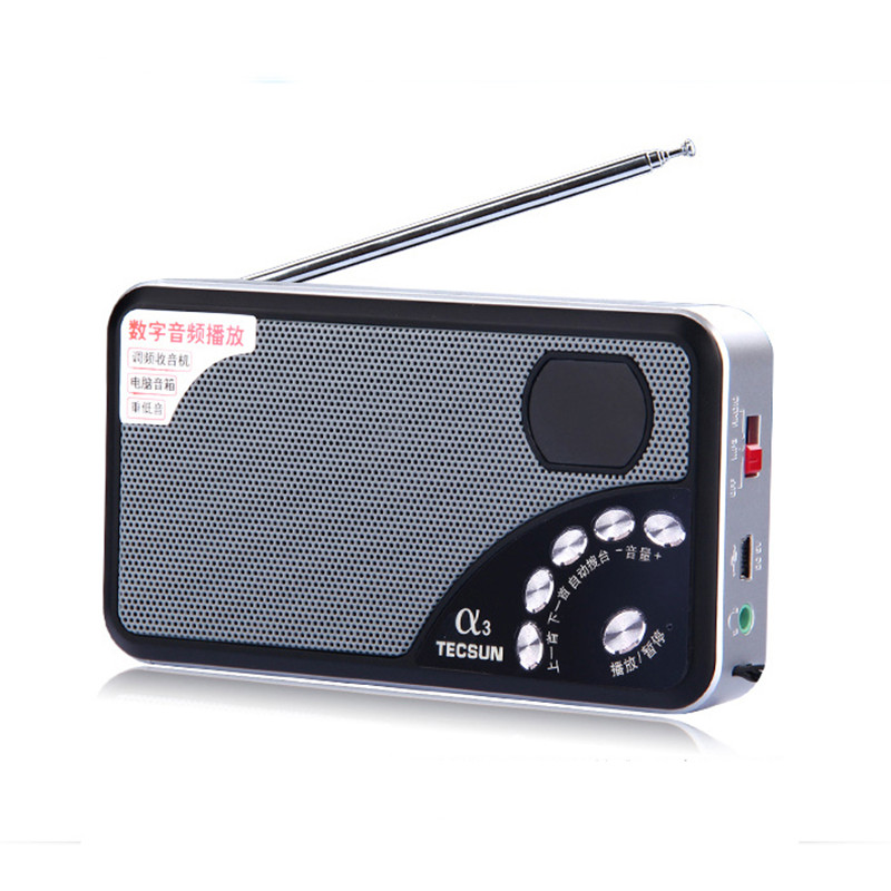 Tecsun/desheng a3 portable mini stereo speaker card old radio mp3 music player