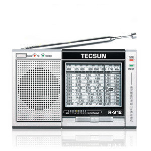 Tecsun/desheng r-912 analog stereo mini portable radio full band radio