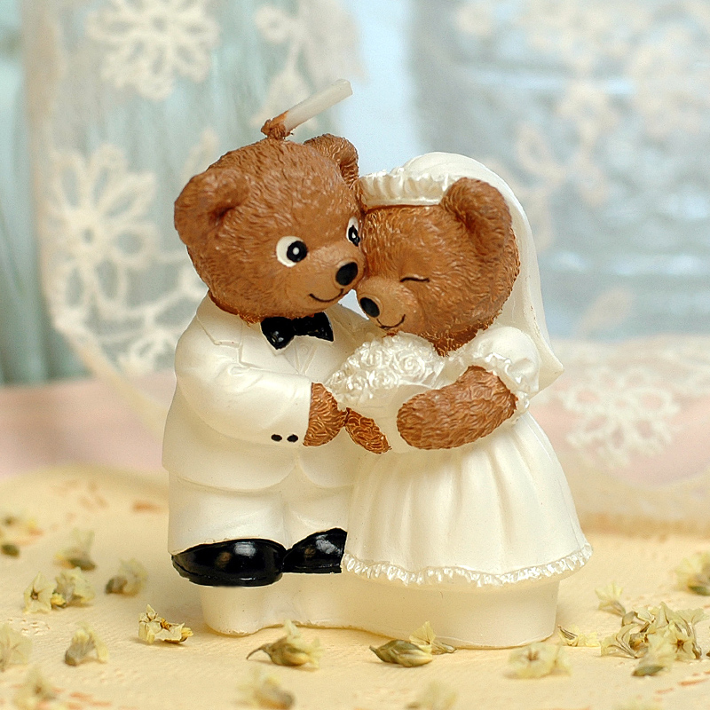Teddy bear gift ideas wedding supplies wedding candles courtship confession creative romantic candle candle candle to send newcomers