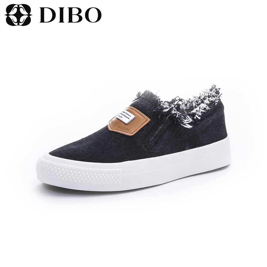 Tellurium platinum DIBO2016 new korean version of cowboy shoes fashion shoes flat shoes shallow mouth to help low shoes single shoes tide shoes