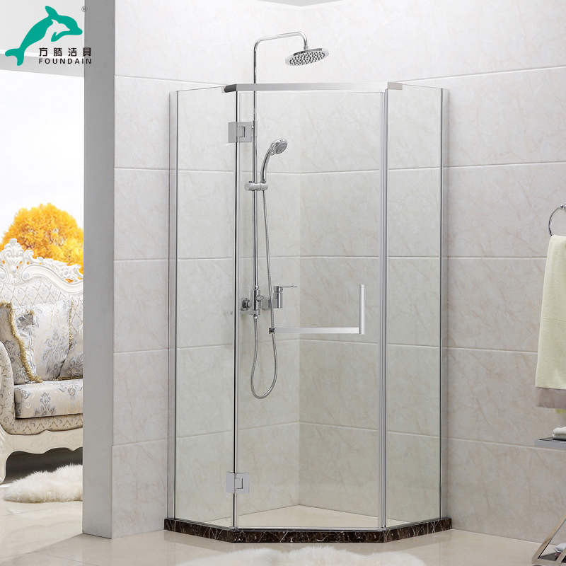 Get Quotations · Teng Square Diamond Diamond Shower Room Simple Shower The  Whole Shower Room Shower Room Glass Partition