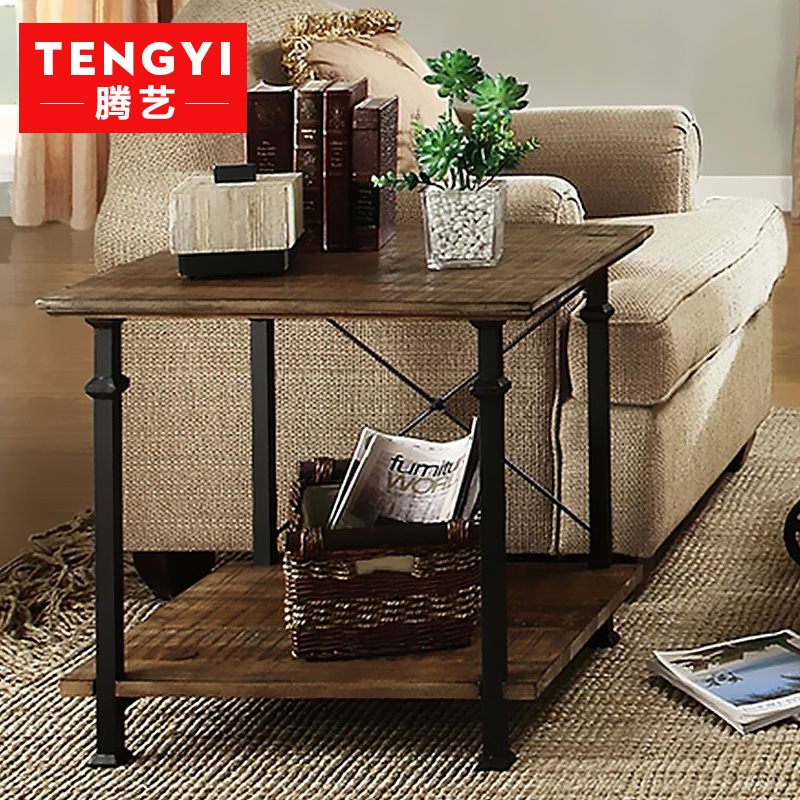 Teng yi wood american retro to do the old pine coffee table coffee table side a few small coffee table antique wrought iron coffee table leisure table