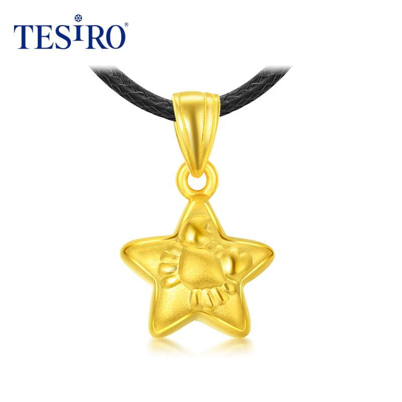 Tesiro psychic jewelry 3d hard gold subclavicular cancer constellation of twelve yellow gold pendant necklace to send his girlfriend ceremony