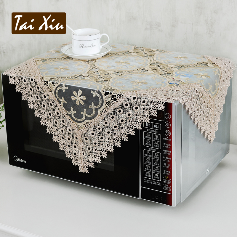 Thailand embroidered washing machine washing machine cover cloth dust cover lace cover continental european garden embroidered cloth cover multi