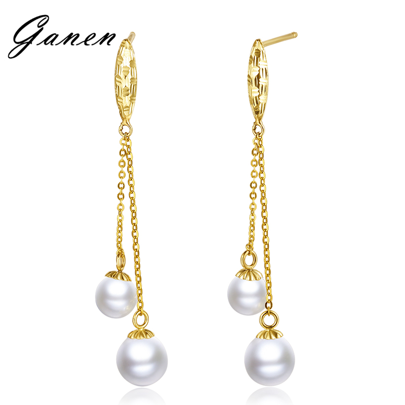 Thanksgiving counterparts k gold earrings female natural seawater pearl earrings pearl earrings pearl earrings pearl earrings
