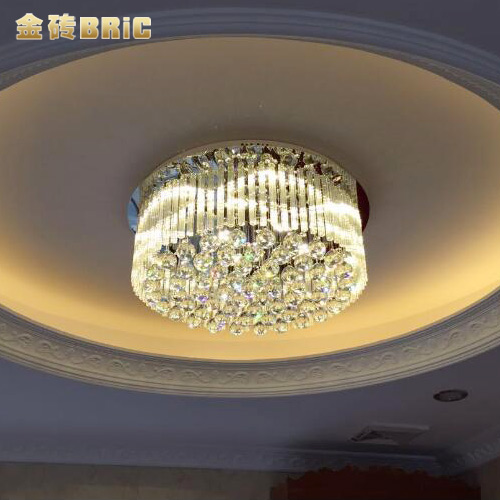 The bric'dream' modern minimalist led crystal ceiling lights round the living room lamp bedroom lamp restaurant lights over the road lighting lamps