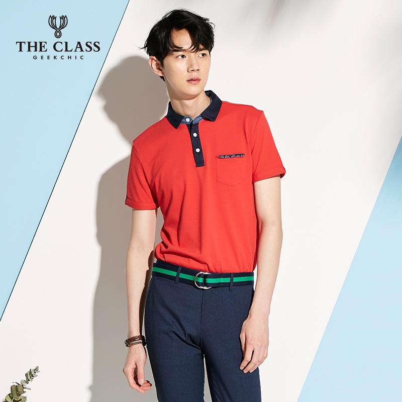 The class classic good summer new casual slim short sleeve t-shirt men polo shirt COTS310L