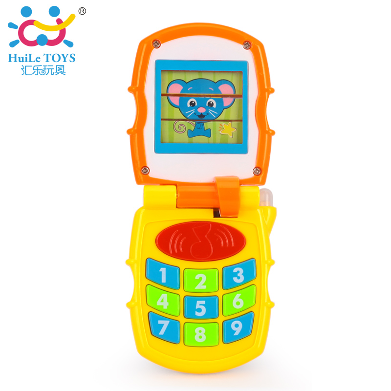 The department of music children's music phone baby early childhood educational toys enlightenment 766 years old infants and children simulation clamshell phone