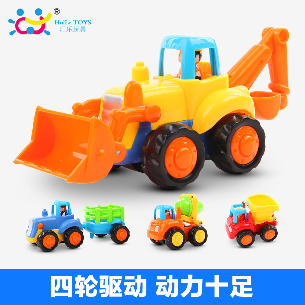 The department of music happy engineering team inertia mixer truck dump truck 326cd car educational toys single loaded