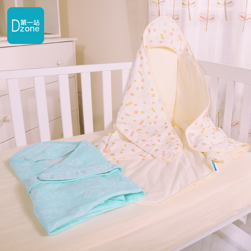 The first stop blue dream meng meng spring and summer cotton newborn baby was coated baojin swaddle blankets baby hold is the spring and autumn
