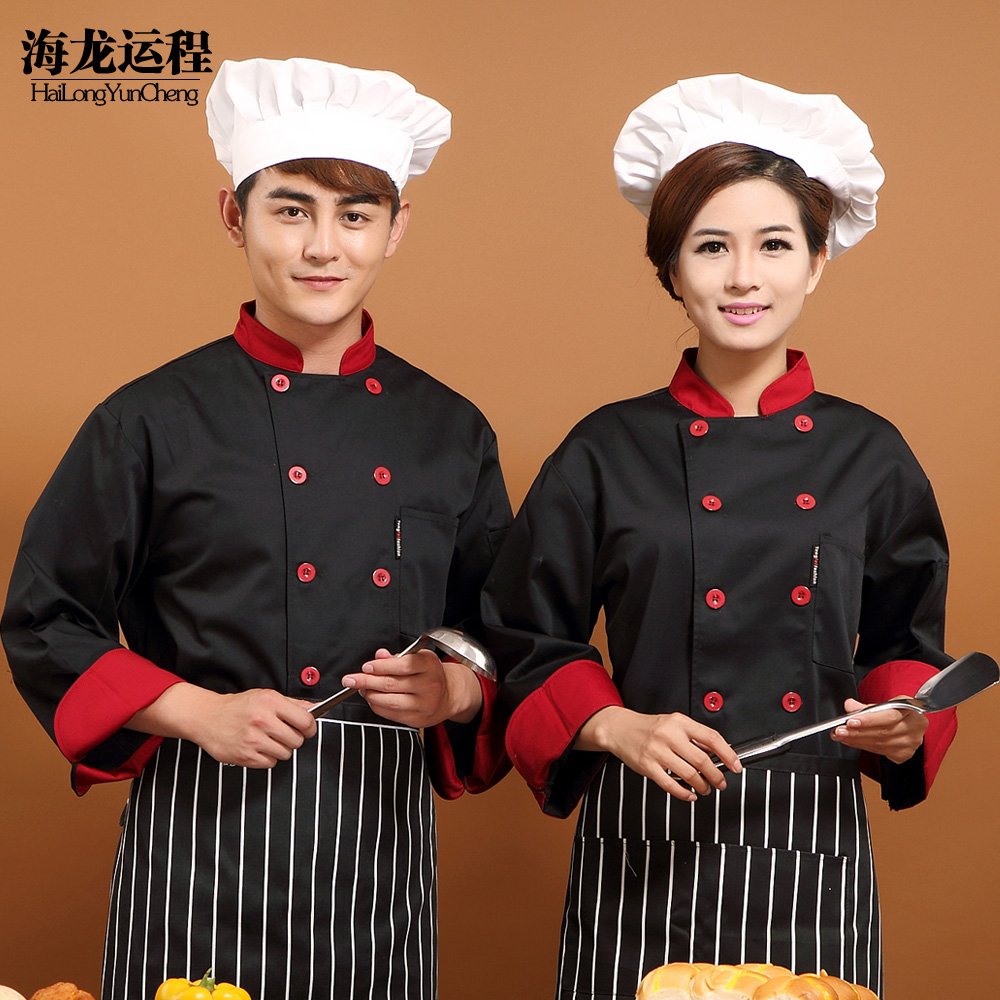 The hotel chef clothing long sleeve chef service hotel chef clothing chef chef clothing chef uniforms chef service men and women fall and winter clothes long sleeve