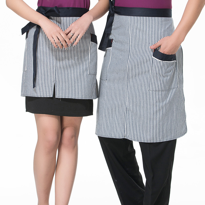 The hotel restaurant chef aprons custom short paragraph striped apron chef kitchen apron chef apron bust apron men and women