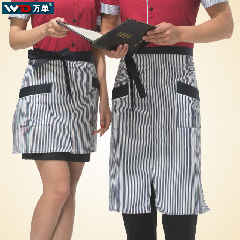 The hotel restaurant chef aprons for men and women short paragraph fashion bust half apron kitchen apron restaurant work apron