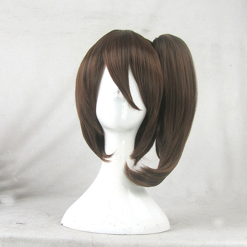 The magic cosplay wig fleet collection/kaga kaga/kaga mixed brown high temperature wire