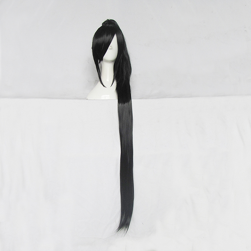 The magic cosplay wig kanda gifted/holy tradition/asura/sword three heavy lotus black tiger clip Straight ponytail