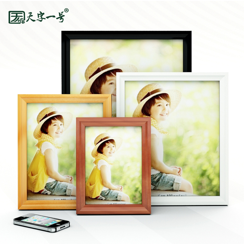The new 5 european creative photo frame combination of solid wood frame 7 inch 6 inch 10 inch 16 inch a4 wall swing sets