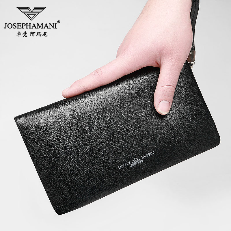 The new armani zhuo vatican burglarproof genuine first layer of leather hand bag man business leather handbag purse man bag